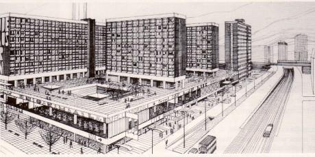 Kollektiv Graffunder: Entwurf Rathauspassagen, 1967
