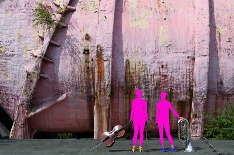 VWS der Findling in der Rosa Röhre. Foto: Oper Dynamo West