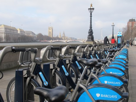"Die ""Boris Bikes"" in London (Foto: Tim Birkholz)"