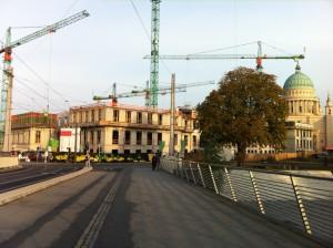 Rohbau des zukünftigen Stadtschlosses in Potsdam, November 2011