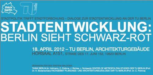 Auftakt der Dialogreihe Stadtpolitik trifft Stadtforschung am 18. April 2012