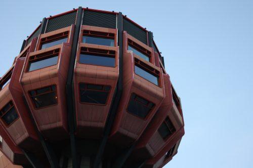 """Turmrestaurant Steglitz (""""Bierpinsel""""), Ralf Schüler/Ursulina Schüler-Witte, 1974."""