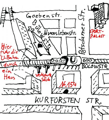 Abb. Ecke Kurfürstenstraße; Grafik Sebastian Strombach