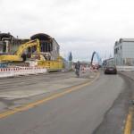 9.2.13: Abriss Nordgebäude Grenzanlage – Blick Richtung Slubice (Foto: P. Hentschel)