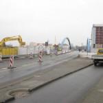 22.3.13: Abriss Nord – und Südgebäude Grenzanlage – Blick Richtung Slubice (Foto: P. Hentschel)