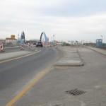 19.4.13: Abriss Nord – und Südgebäude Grenzanlage – Blick Richtung Slubice (Foto: P. Hentschel)