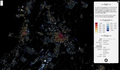 Screenshot der Baualterkarte der Niederlande