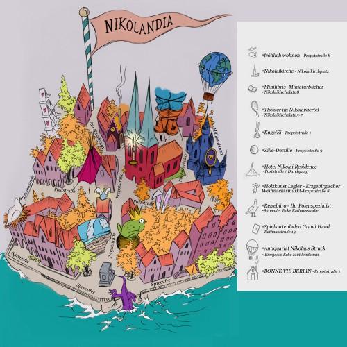 Die Umgebungskarte von Nikolandia Grafik: OnElf