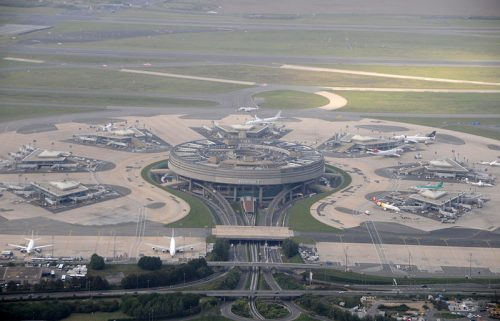 Terminal 1 at Paris Roissy airport