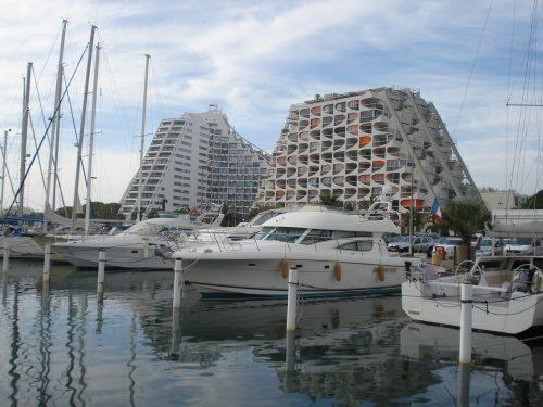 La Grande-Motte: Blick übers Marina-Becken