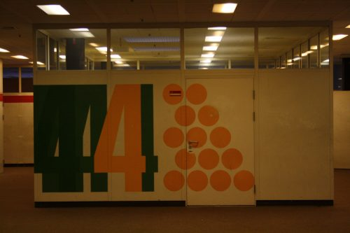 Wandgestaltung an einem der modularen Klassenräume