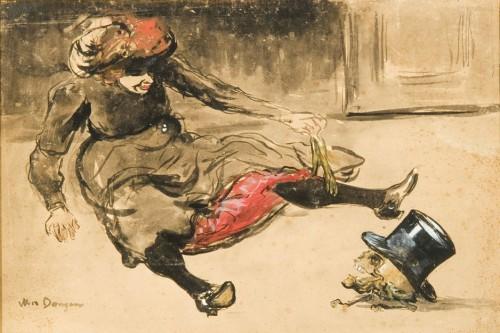 Das Leben am Tod, gezeigt bei Kees van Dongen Buveuse d'absinthe, um 1902