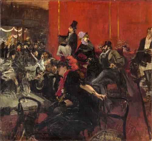 """Die Bohème – Das Leben gezeigt bei Giovanni Boldinis """"Scène de fête au Moulin rouge"""", um 1889"""