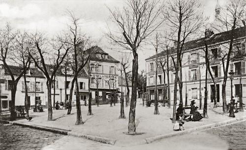 Place du tertre a Montmartre, 1903
