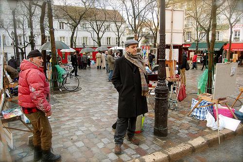 Place du tertre a Montmartre, 2010