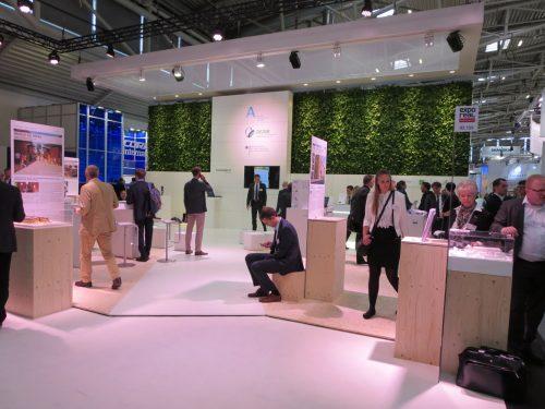 leider fast nicht zu sehen: Bundesstiftung Baukultur auf der EXPO Real 2014