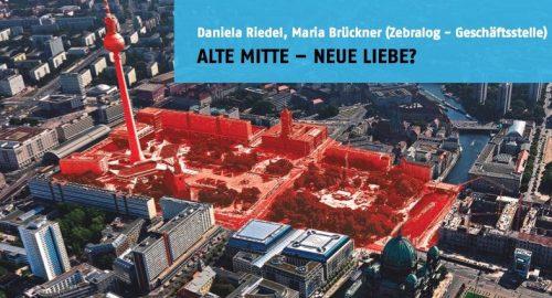 Rathausforum, Design der website www.stadtdebatte.berlin.de (zebralog). Um diesen Stadtraum geht´s