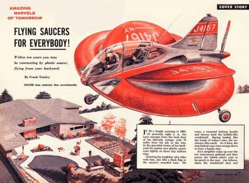 In 1954 the city of the tomorrow would provide flying saucers for everybody! Credit: James Vaughan (CC BY-SA 2.0) http://bit.ly/1sBVf0Q