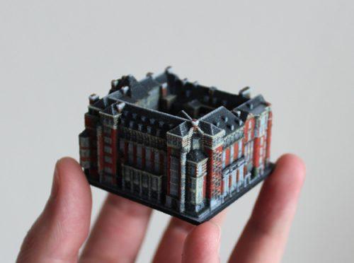 Die Gebäude sind im Maßstab 1:1000 hergestellt | © ittyblox