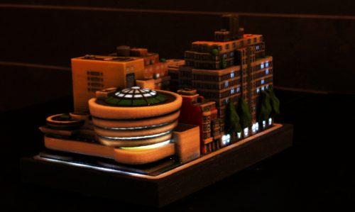 Die Gebäude lassen sich auch beleuchten | © ittyblox