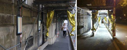 Zum Stadt selbst gestalten lud die die »KunstBaustelle« des »Museums für partizipative Gegenwartskunst« ein. - Eigene Fotos