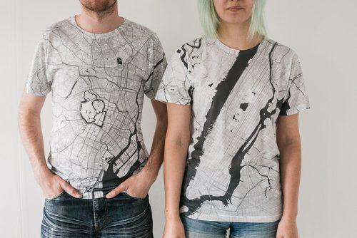 citee-fashion: Aktuell über Crowdfunding finanzierte Modeprojekt zu tragbaren Stadtplänen.