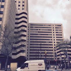 Eine Rückseite an der Plaza España.