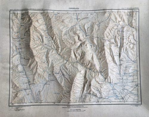 Noch nicht digital zu haben: dreidimensionale Karte aus Argentinien.