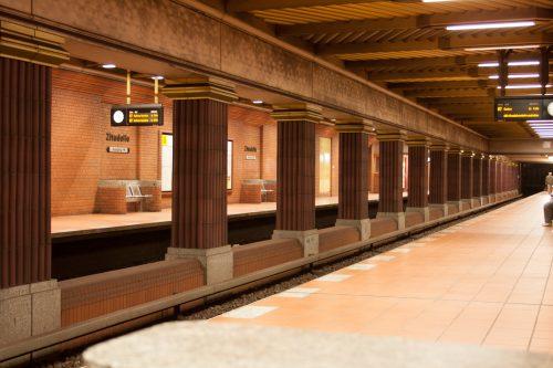U-Bahnhof Zitadelle, Rainer Rümmler, 1984 - Bahnsteighalle