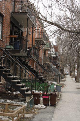 Typischer Wohnhäuser in Montréal