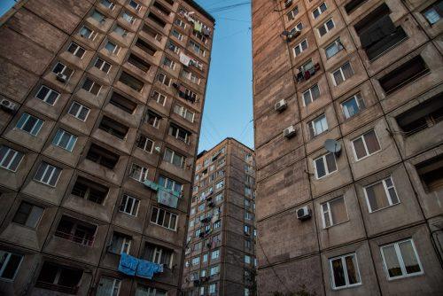 Kvartal, ein Stadtviertel von Yerevan,Armenien